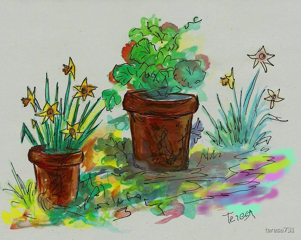 Watercolor - Ode to Spring by teresa731