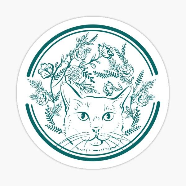 Wildflower cat Hanako Sticker