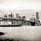Brooklyn Bridge - New York City   B/W von thomasrichter