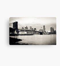 Lienzo Brooklyn Bridge - New York City   B/W