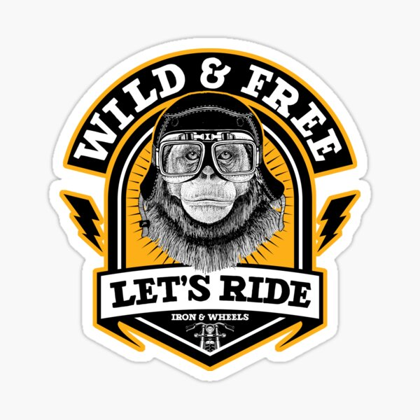 Chimp sauvage et libre Sticker