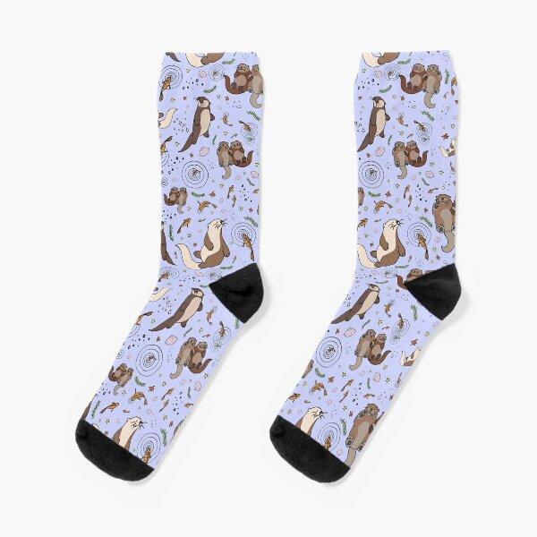 Otters in Purple Socks