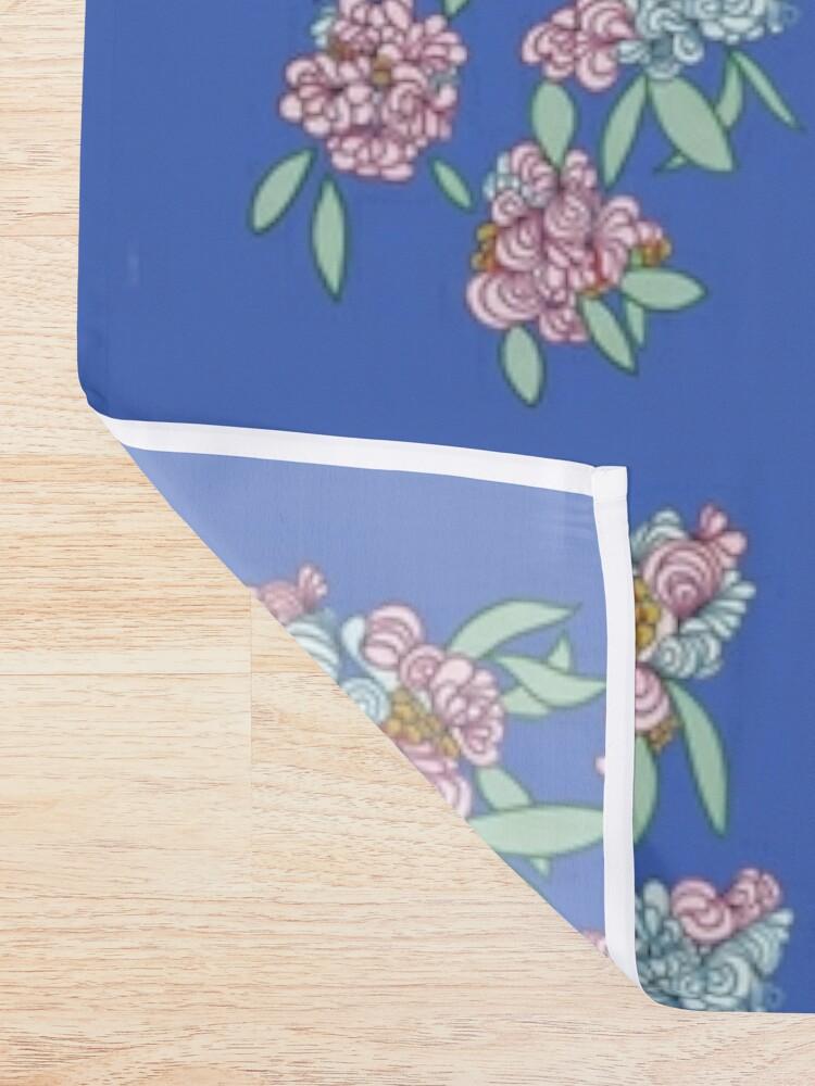 Alternate view of Elegant hand-drawn flowers. Shower Curtain