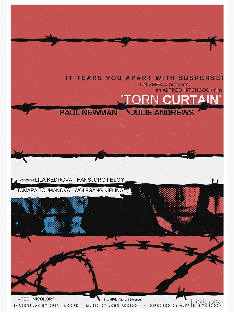 Torn Curtain (1966) - Movie poster design by jackbooks