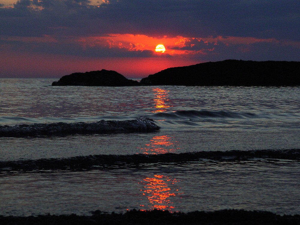 Another Awesome Lake Superior Sunset by Karen Karl