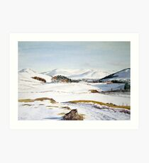 Winter in Glenshee, Scotland Art Print
