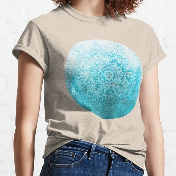 Fade to Teal - watercolor + doodle Classic T-Shirt