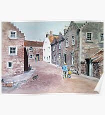 The road to Crail Harbour, Scotland Poster
