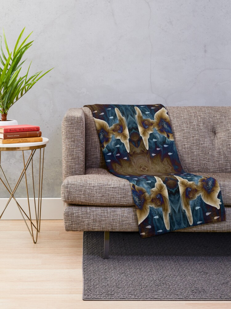Alternate view of When it Rains, Be Like a Duck Throw Blanket