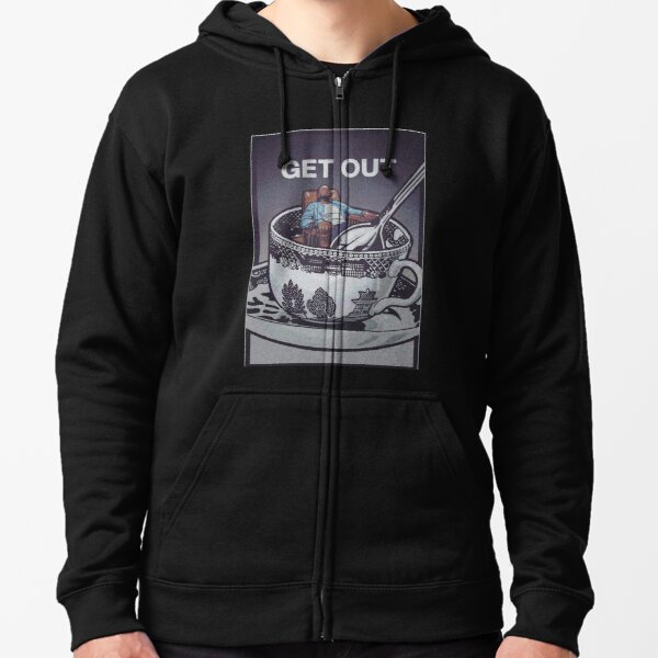 Get Out - Horror Movie Artwork Zipped Hoodie