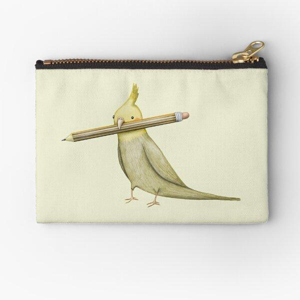 Cockatiel & Pencil Zipper Pouch