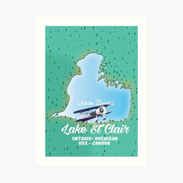 Lake St Clair - USA Canada Art Print