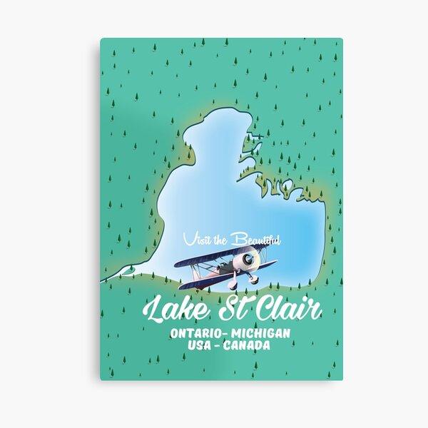Lake St Clair - USA Canada Canvas Print