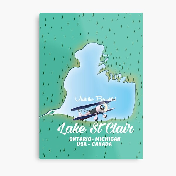 Lake St Clair - USA Canada Metal Print