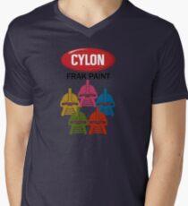 Cylon Frak Paint Mens V-Neck T-Shirt