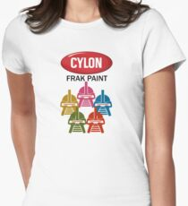 Cylon Frak Paint Women's Fitted T-Shirt