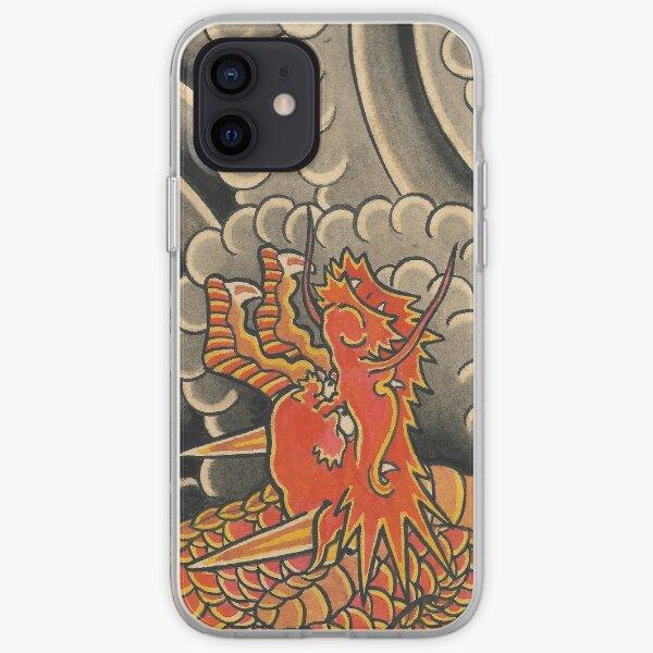 Traditional Japanese Irezumi Red Dragon iPhone Soft Case