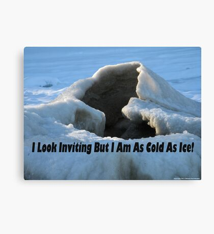 I look inviting but I am cold as ice. Canvas Print