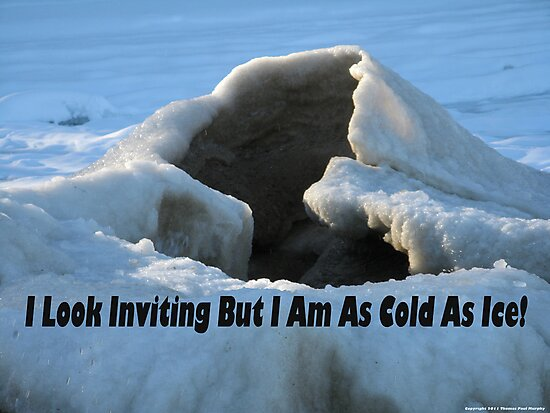 I look inviting but I am cold as ice. by Thomas Murphy