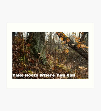 Take Roots Where You Can Art Print