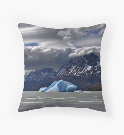 Iceberg, Mountains and Sky Throw Pillow
