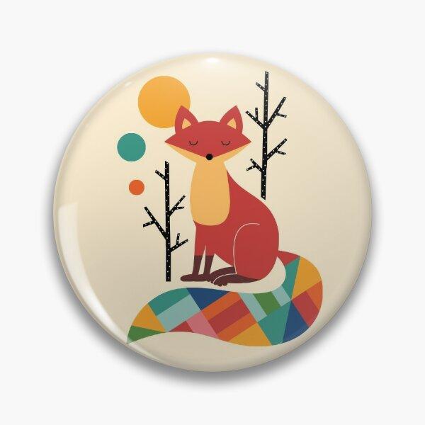 Rainbow Fox Pin