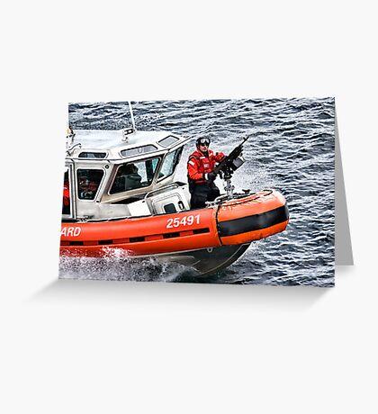 US Coast Guard At Work Greeting Card