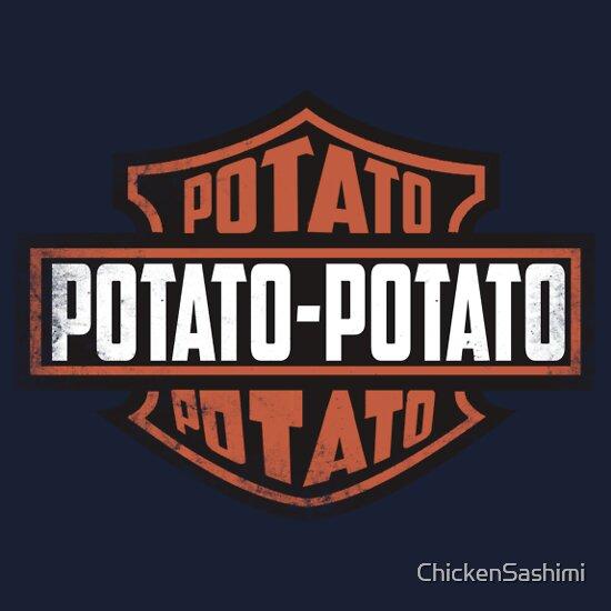 2f7eb72b34 Potato potato potato!, a t-shirt of funny, logo, potato, motorcycle ...