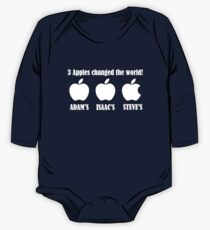 3 Apples Changed The World - Tribute - Steven/Steve Jobs R.I.P One Piece - Long Sleeve