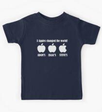 3 Apples Changed The World - Tribute - Steven/Steve Jobs R.I.P Kids Tee