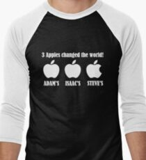 3 Apples Changed The World - Tribute - Steven/Steve Jobs R.I.P T-Shirt