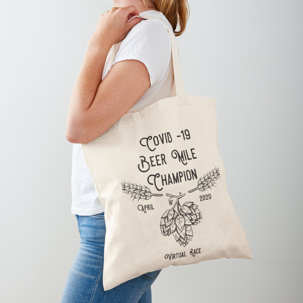 Beer Mile Champion Tote Bag