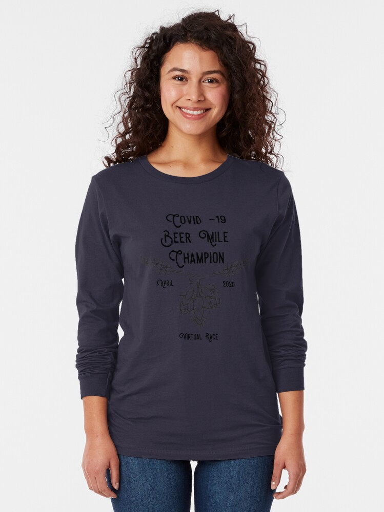 Alternate view of Beer Mile Champion Long Sleeve T-Shirt