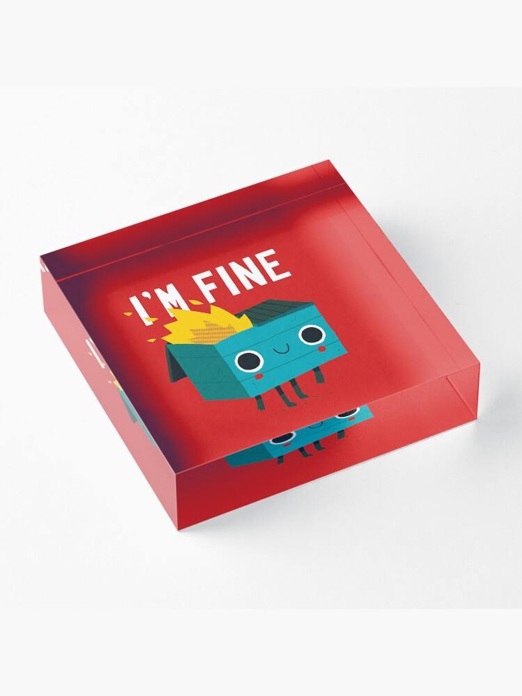 Alternate view of Dumpster Is Fine Acrylic Block