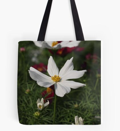 White Cosmos 7133 Tote Bag