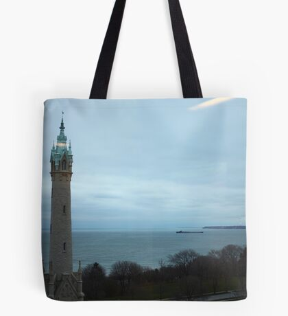 North Avenue Water Tower with Halo Tote Bag