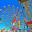 Dualing Ferris Wheels 1 by designerbecky