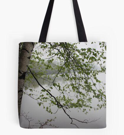Birch Tree Waterscape 3235 Tote Bag