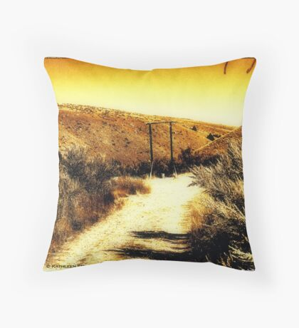 Western Justice Throw Pillow