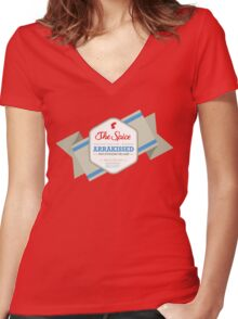 I'm on a Sandworm Women's Fitted V-Neck T-Shirt