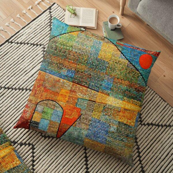 Paul Klee abstract artwork, Ad Parnassus Floor Pillow