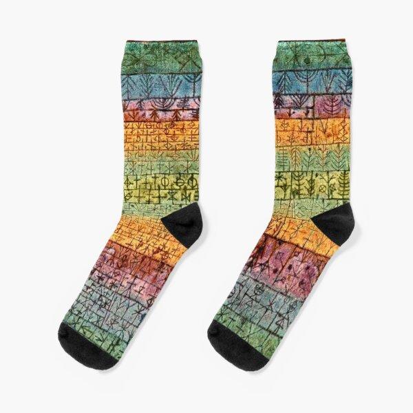 Paul Klee artwork, Tree Nursery Socks