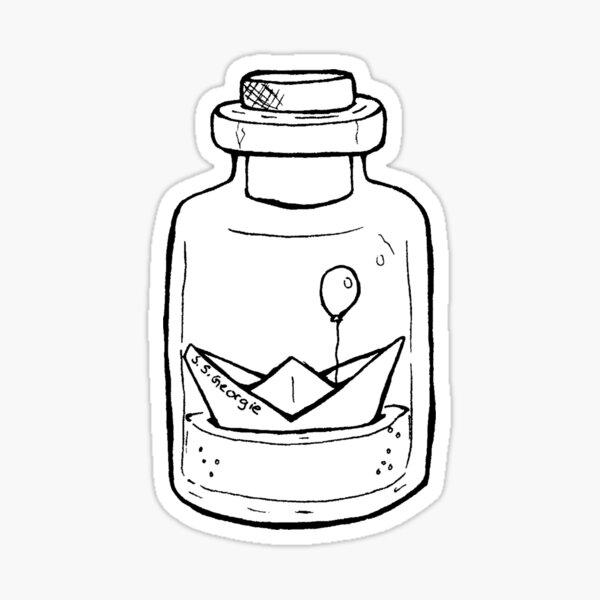 You will float too - SS Georgie (Schiff im Glas) Sticker