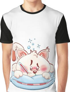 HeinyR- Poorly Cat Graphic T-Shirt