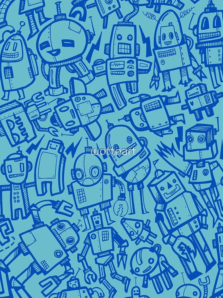 Lots of Robots by wottoart