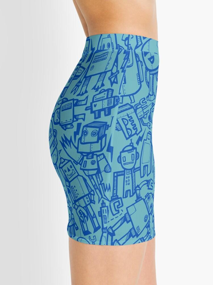 Alternate view of Lots of Robots Mini Skirt