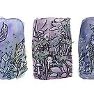 Inktober Spriggans, purple by Leigh Ann Gagnon