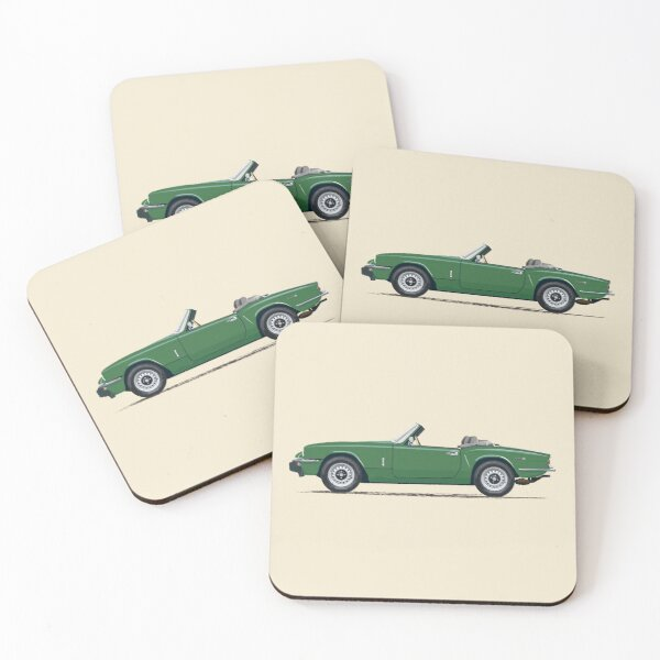 Brooklands Green Mk4 Spitfire  – a Triumph! Coasters (Set of 4)