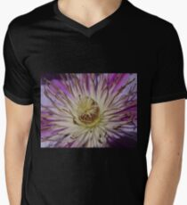 Clematis Closeup Mens V-Neck T-Shirt