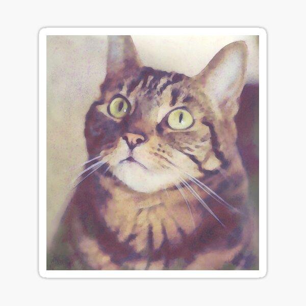 Athena Cat Goddess Wise Kitty Watercolour Digital Art Watercolor Sticker